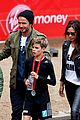 beckham family romeo london marathon 10