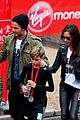 beckham family romeo london marathon 11
