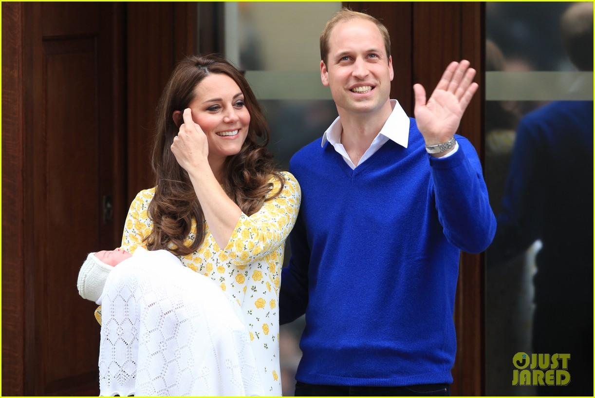 royal baby girl first appearance with kate middleton prince william 313361775