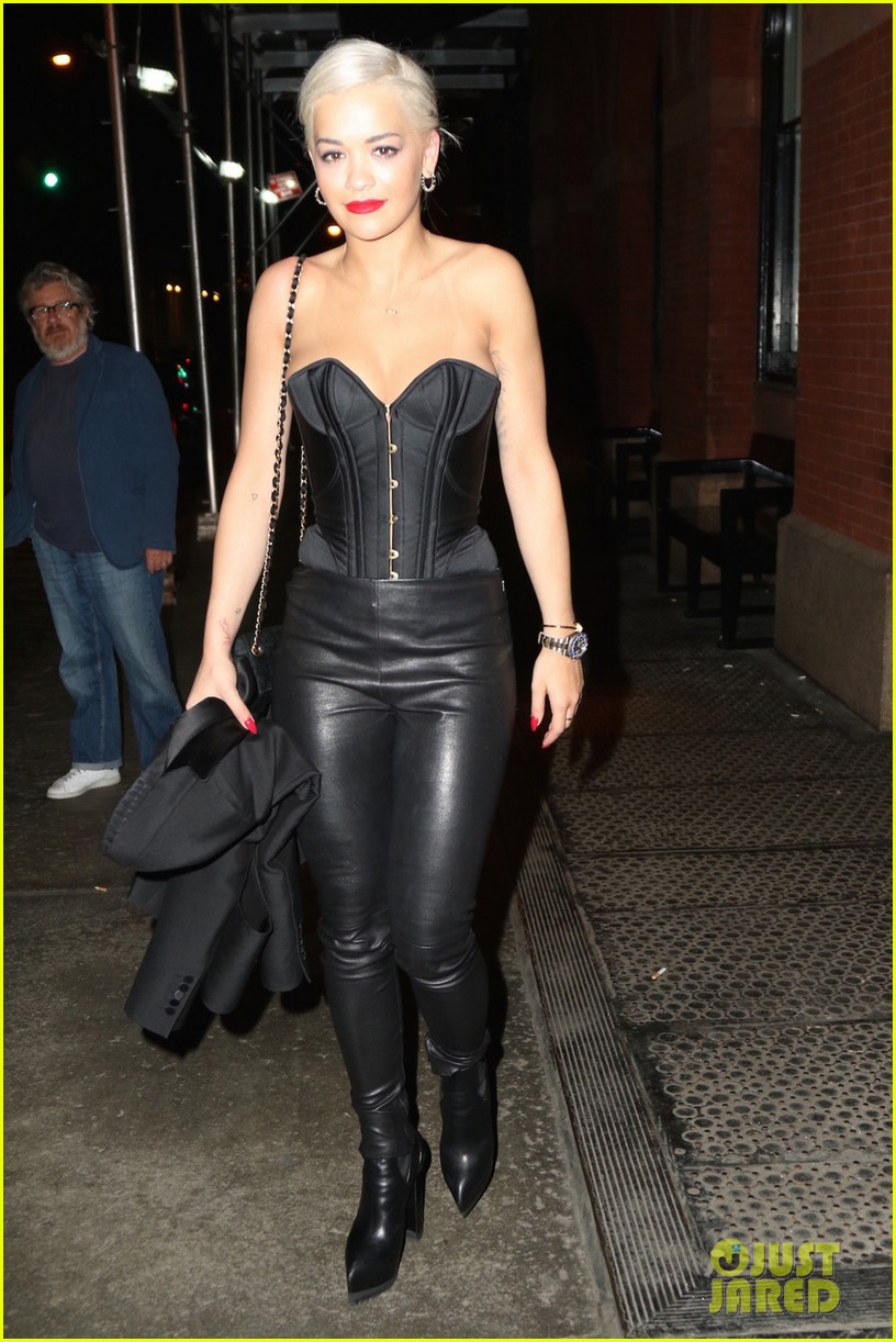 Rita Ora Gets Daring In Leather Pants For Nyc Night Out