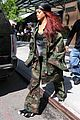 rihanna steps out in camo nyc 07