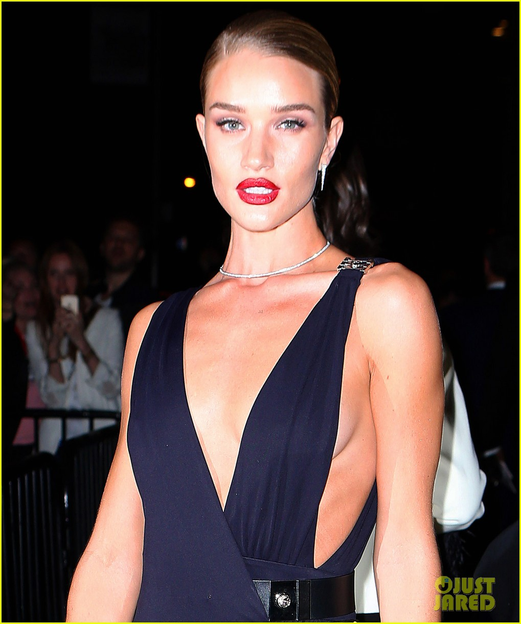 Rosie huntington whiteley brings glamour to the met gala 2015 after