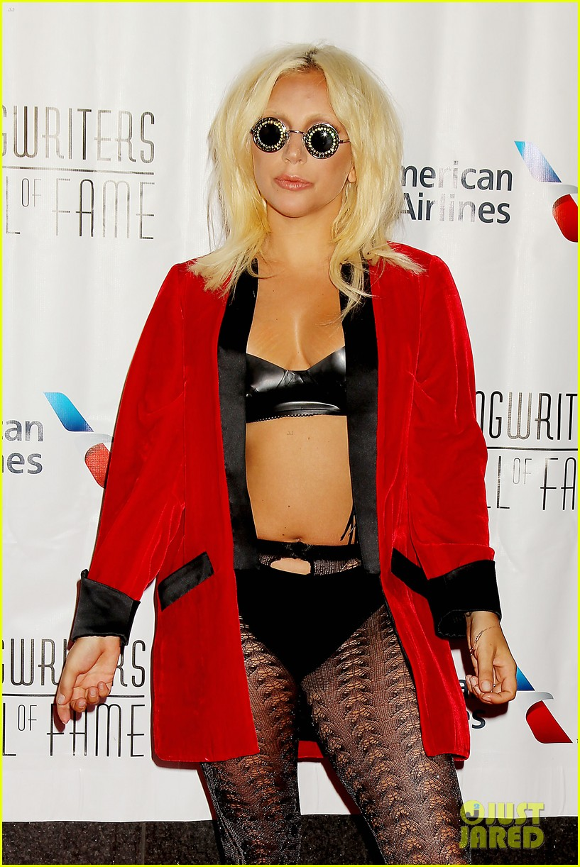 lady gaga wears bra fishnets for latest red carpet event 29