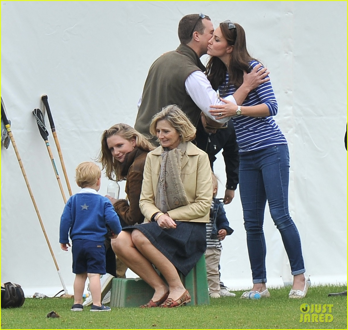 William And Kate Residence Full Sized Photo Of Prince George Kicks The Polo Ball With
