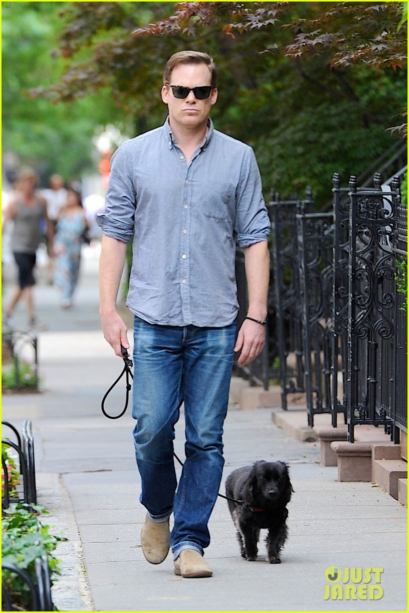 Photo of Michael C. Hall & his  Dog