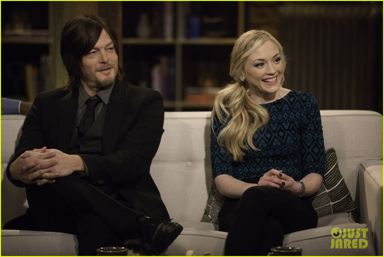 norman reedus and emily kinney dating