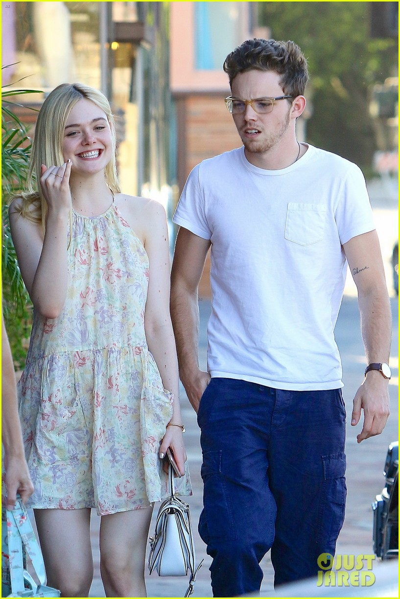 Elle Fanning And Boyfriend Elle Fanning Steps Out...