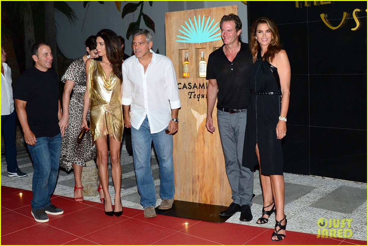 George & Amal Clooney, the Gerbers at the Ibiza launch of their Casamigos tequila August 23, 2015 George-amal-clooney-launch-tequila-ibiza-05