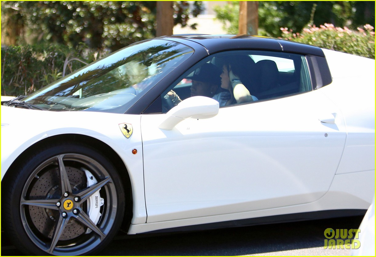 Full Sized Photo Of Kylie Jenner Takes Tyga For A Spin In Her New Ferrari 10 Photo 3438698 Just Jared