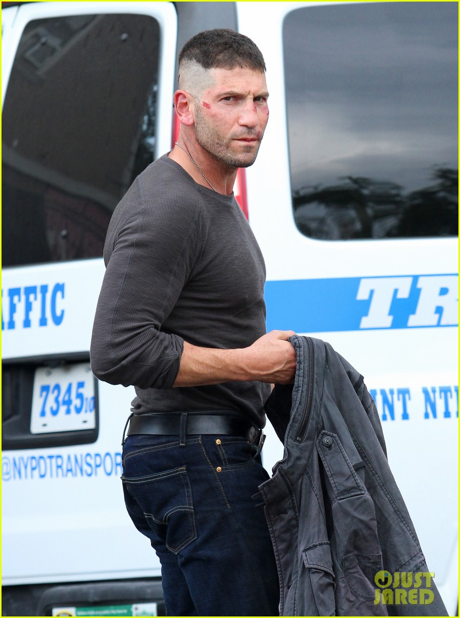 Jon Bernthal Films Daredevil With Cuts On His Face