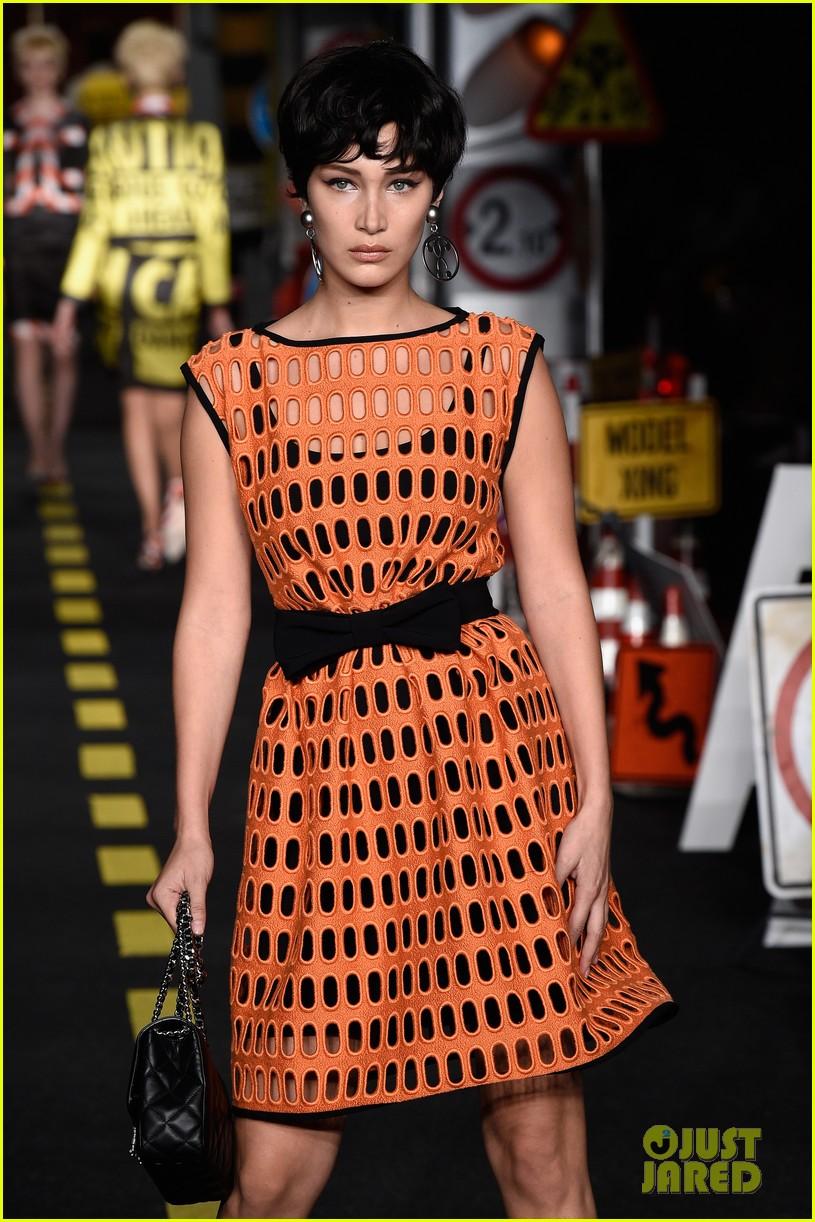 Bella Hadid Walks The Walk In Milan For Moschino