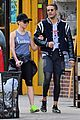 scarlett johansson works on her fitness with husband romain dauriac 07