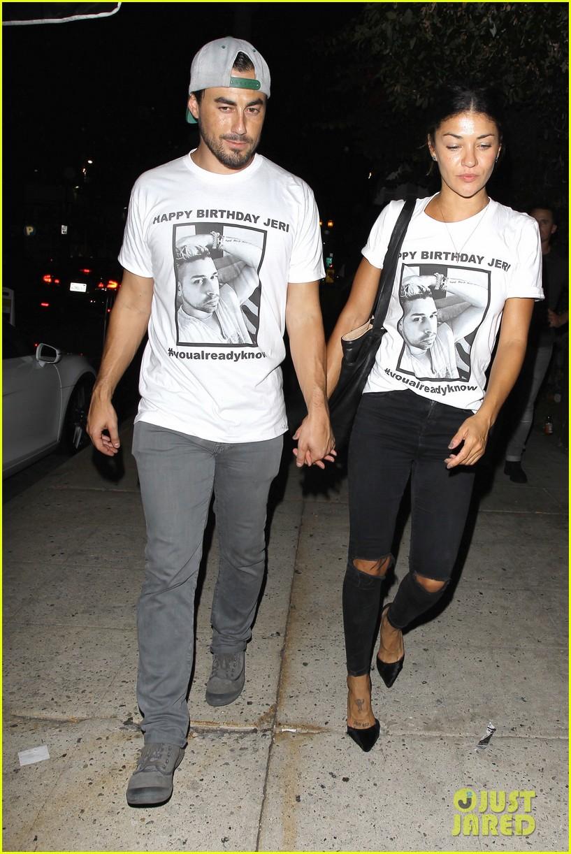 Jessica Szohr Boyfriend Scotty McKnight Wear Matching Shirts At Friends Birthday Party Photo 3471312