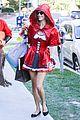 alessandra ambrosio jamie mazur little red riding hood halloween 2015 13