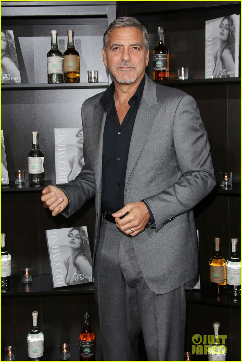 George Clooney at Launch of Casamigos/Cindy Crawford Book October 1, 2015 in London  George-clooney-dishes-on-drunken-nights-with-cindy-crawford-12