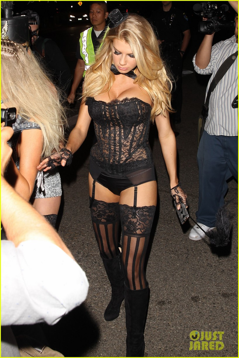 Charlotte Mckinney Wears Sexy Lingerie For Halloween Outfit 21