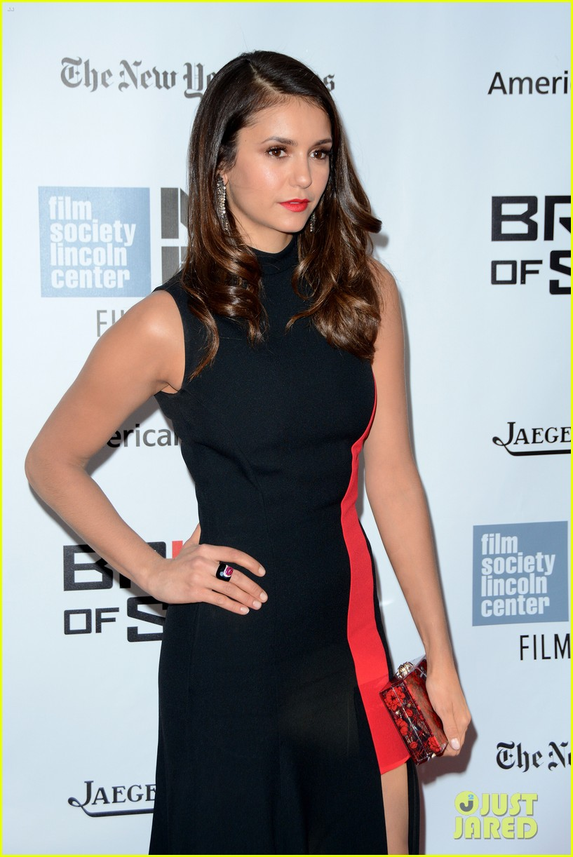 nina dobrev austin stowell bridge of spies premiere 12