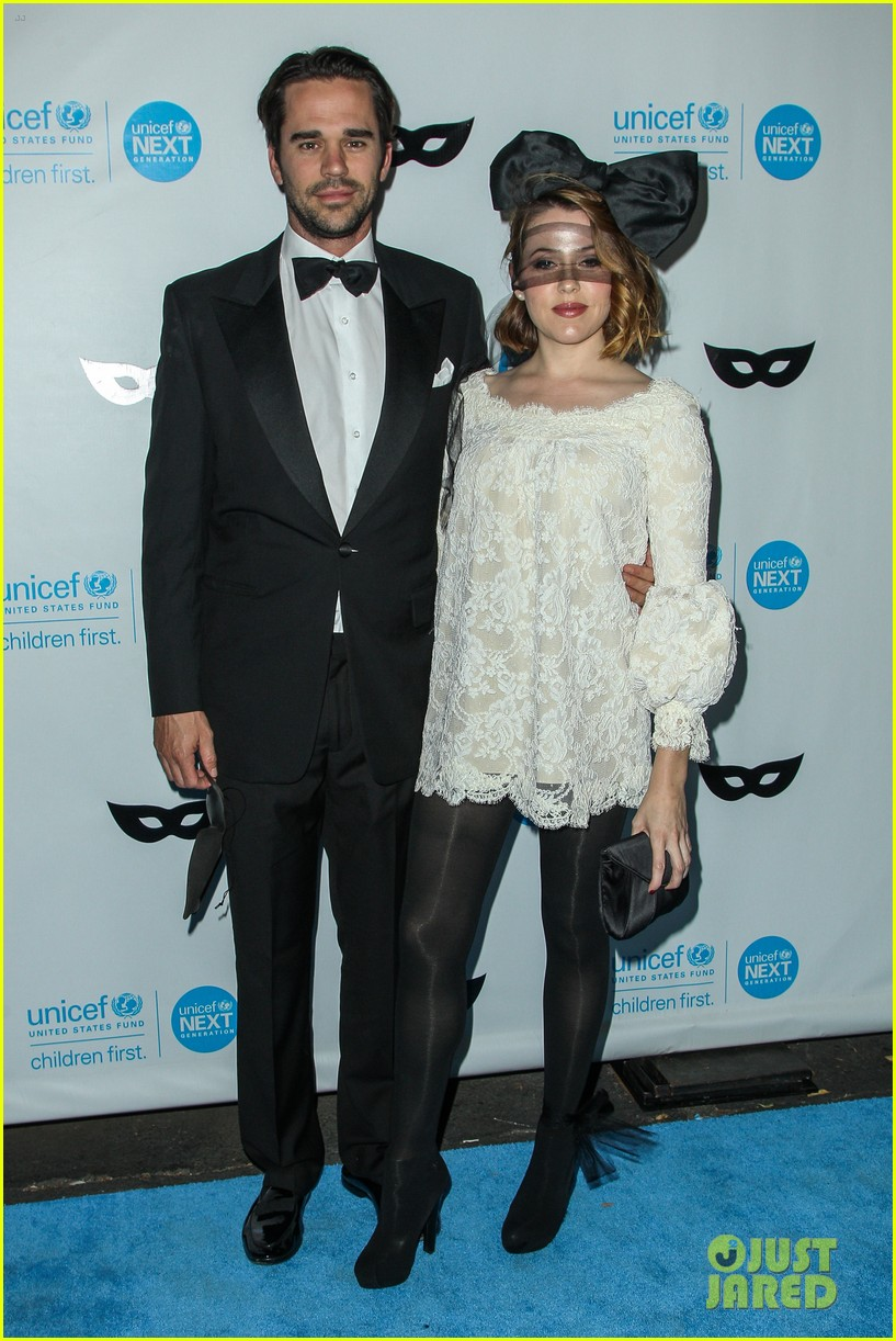 brittany snow annalynne mccord more unicef black white ball 323496670