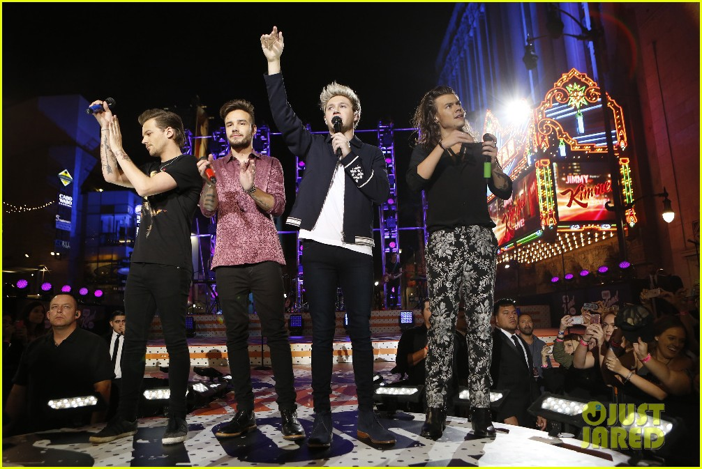 one direction shut down hollywood blvd kimmel performances interview 19