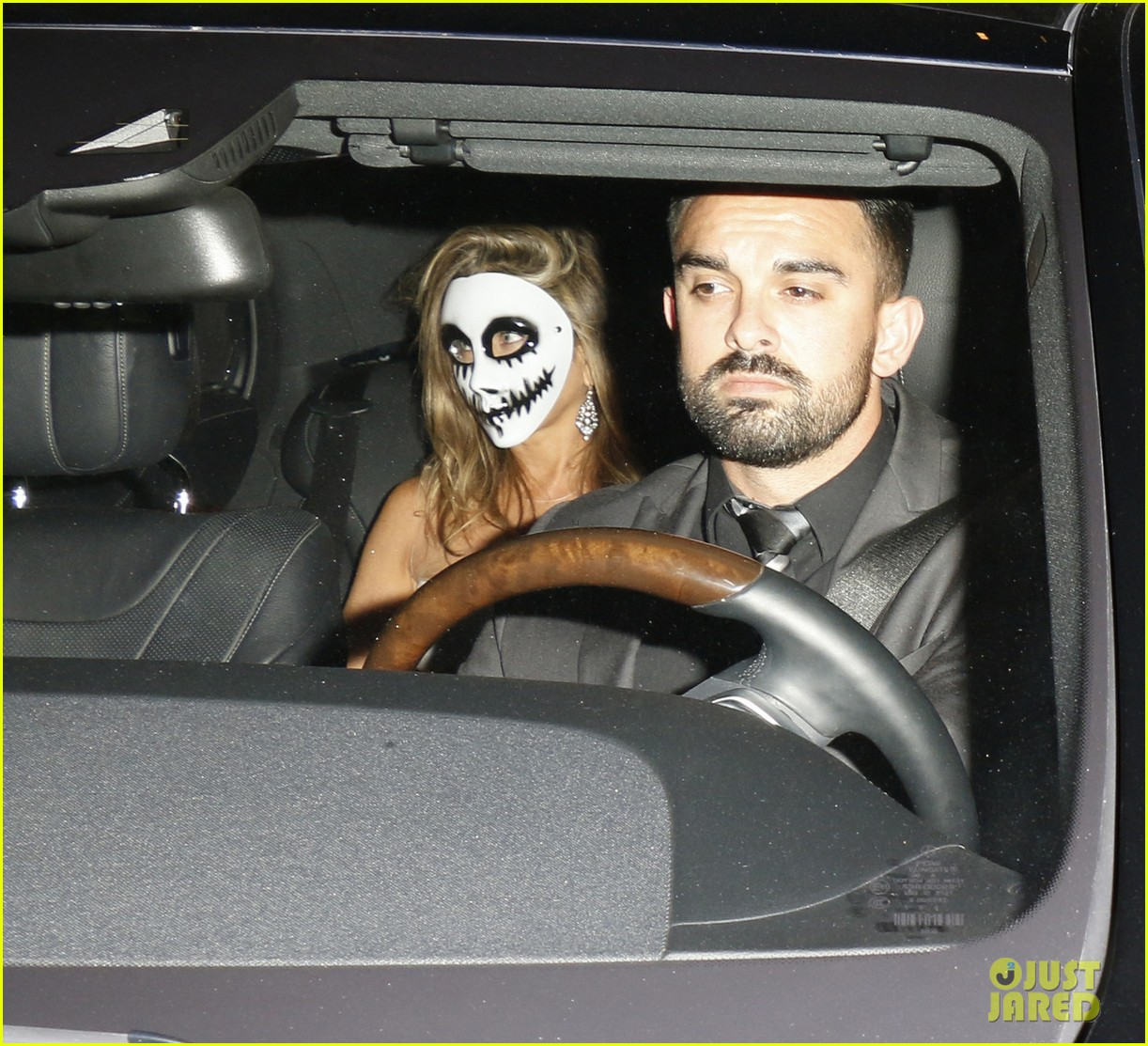 Jennifer Aniston Sports a Scary Mask for Halloween 2015: Photo ...