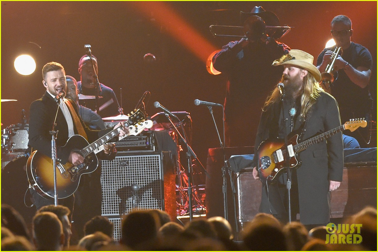 Full sized photo of justin timberlake perform chris for Justin timberlake chris stapleton drink you away