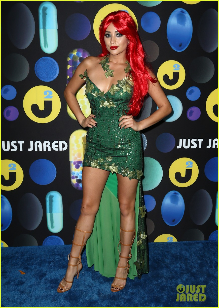 Shay Mitchell Plays with 'DohVinci' at Just Jared's Halloween ...