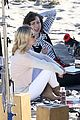 january jones pals around on last man set 10