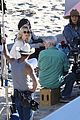 january jones pals around on last man set 13