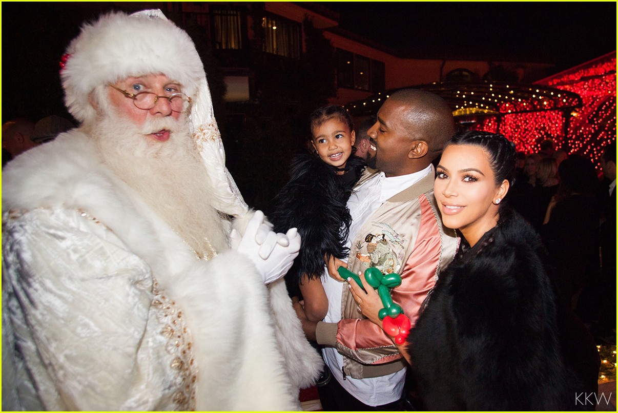Kim Kardashian Shares Family Photos from Christmas Eve Party ...