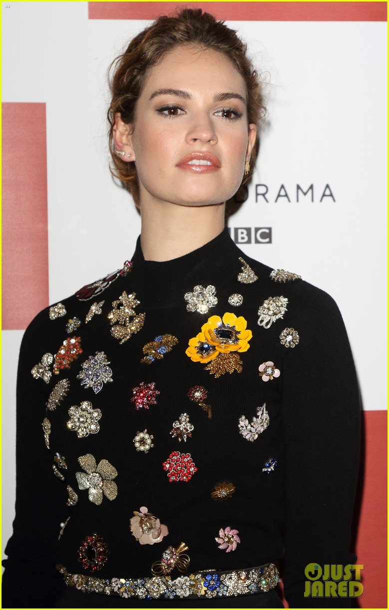 lily james war peace photo call london 18