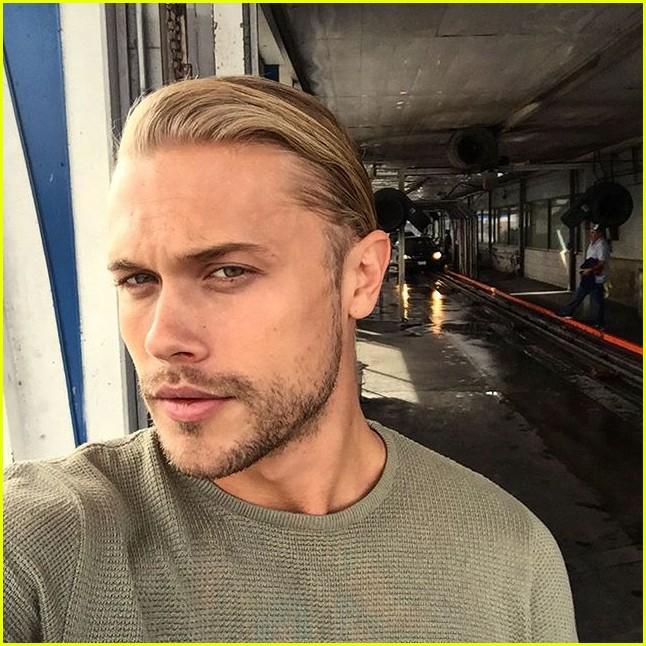 Chris brown blonde hair instagram
