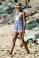 naomie harris romper beach barbados 17
