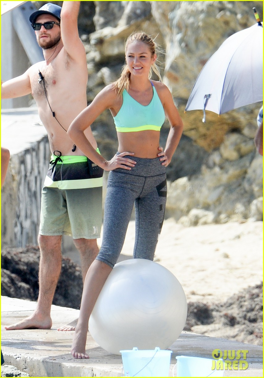 Behati Prinsloo & Candice Swanepoel Flaunt Fit Figures in ... Maggie Gyllenhaal Pregnant