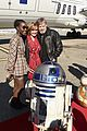 the force awakens cast flies to london in r2d2 plane 06