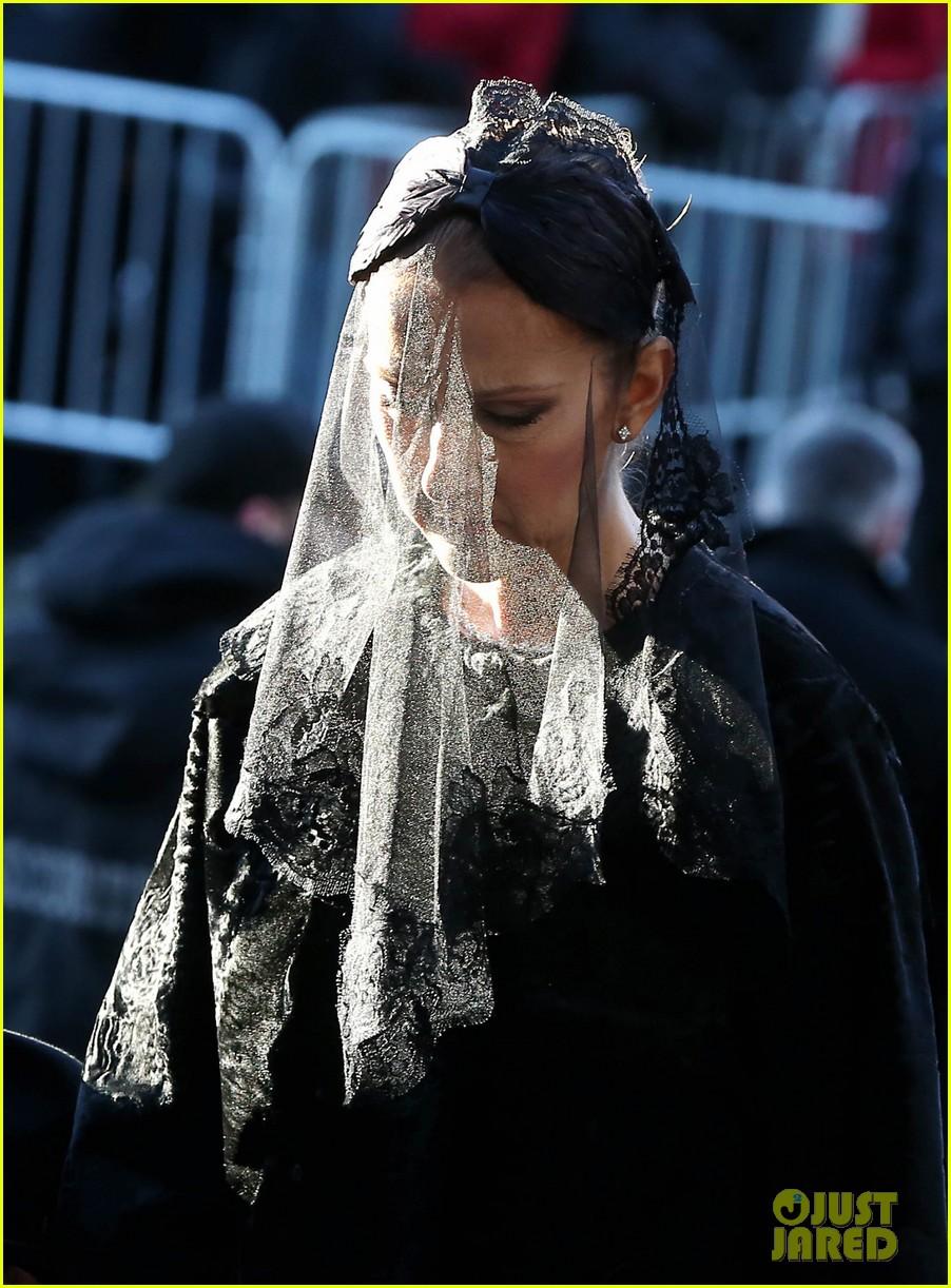 Rene celine dion at funeral