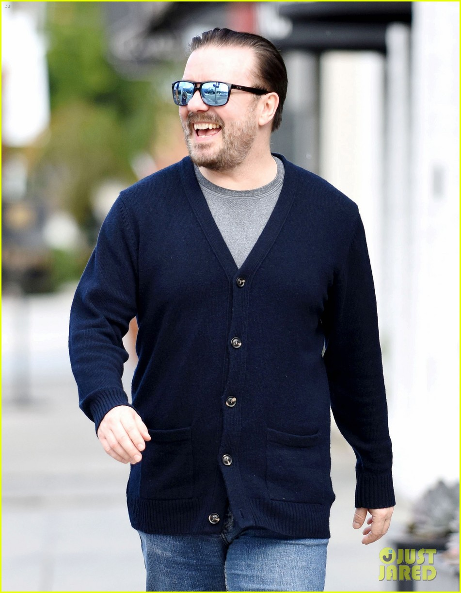 Full Sized Photo of ricky gervais wife jane fallon step out before the ...