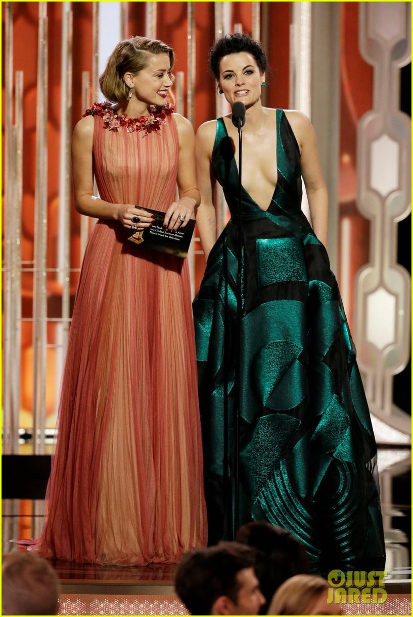 Amber Heard Supports Danish Girl At Golden Globes 2016