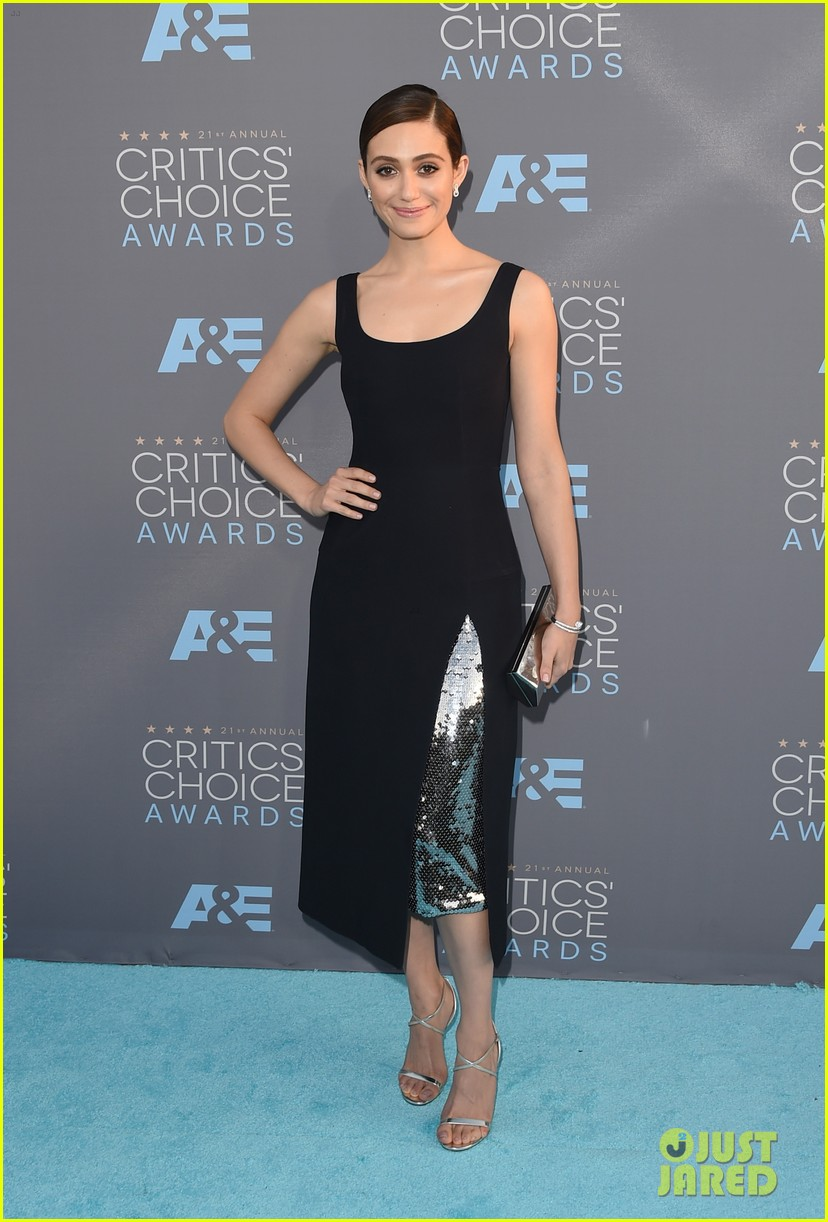 Emmy Rossum Goes Classic in Black at Critics' Choice ... Emmyschoice