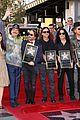 america ferrera helps honor latino rock group mana on hollywood walk 14