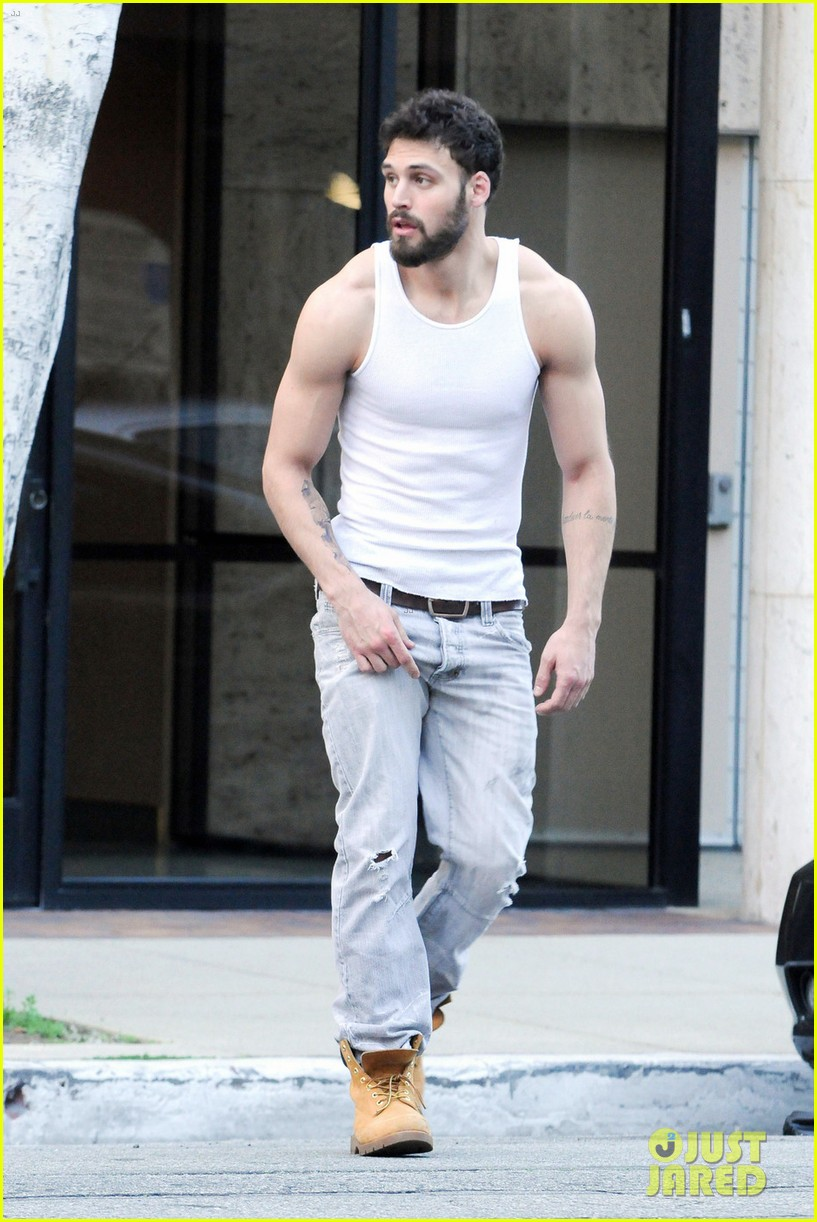 ryan guzman shows off rock hard abs at photoshoot 043587219