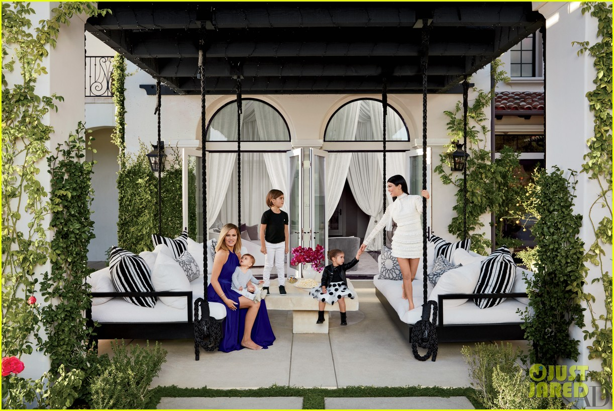 Kourtney khloe kardashian show off their homes in - Architectural digest celebrity homes 2016 ...