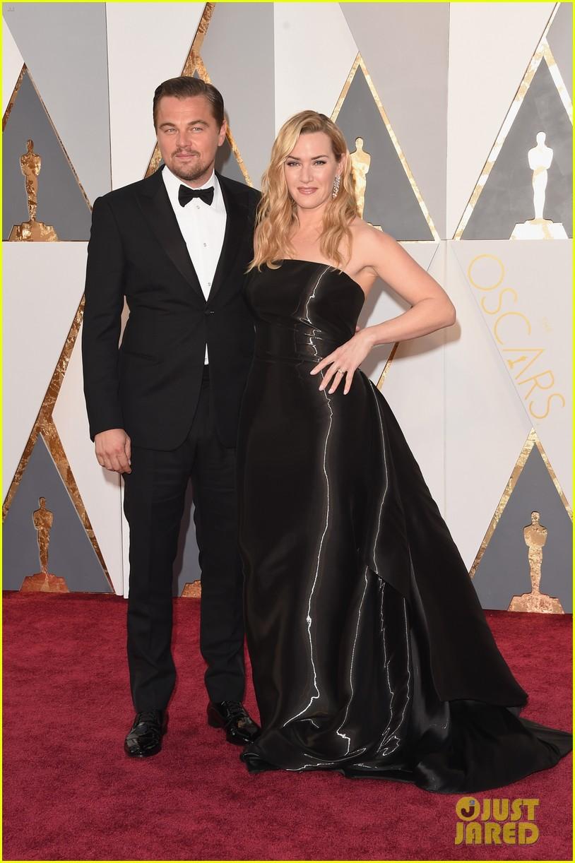 Kate Winslet in Ralph Lauren & Leonardo DiCaprio - 2016 ... Leonardo Dicaprio And Kate Winslet