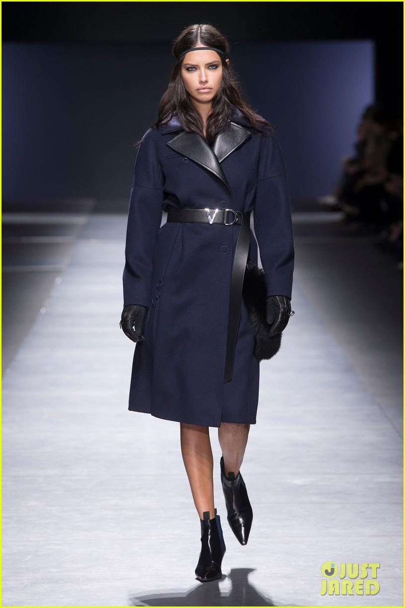 irina shayk amp adriana lima walk the versace runway in