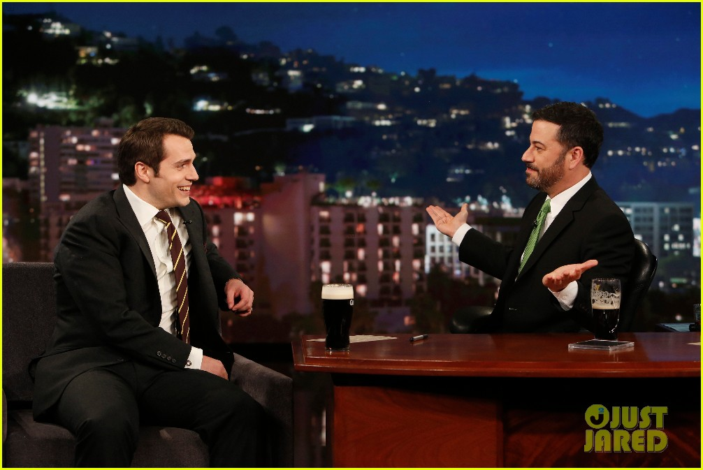 henry cavill gets into a fake fight with jimmy kimmel 103608940