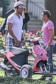 zac efron the rock film baywatch on a scooter 13