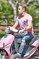 zac efron the rock film baywatch on a scooter 41