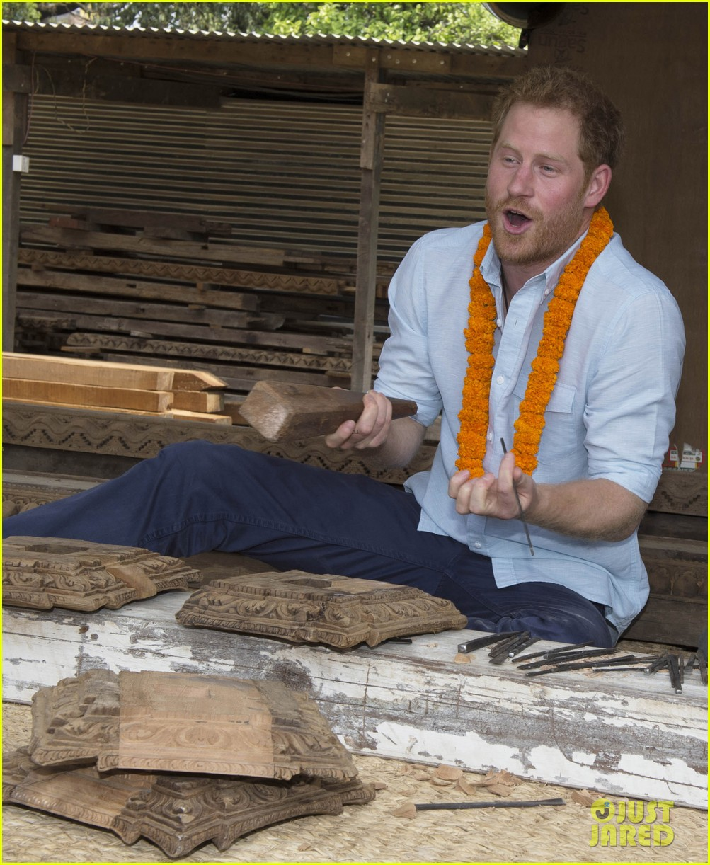 Prince Harry Visits Earthquake Sites During Nepal Trip