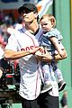 jake gyllenhaal throws opening pitch with boston bombing survivor 03