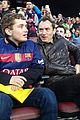 jude law attends a soccer match with his son rafferty 02