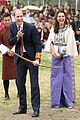 prince william kate middleton recieve warm welcome by king queen bhutan 07